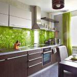 Зеленый фартук из закаленного стекла