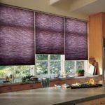 Рулонные шторы из фиолетовой ткани