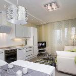 Дизайн кухни с белой мебелью