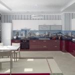 Дизайн угловой кухни большой площади