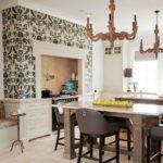 Дизайн кухни с каминной вытяжкой