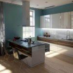 Глянцевые поверхности кухонных фасадов