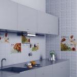 Гладкие фасады кухонного гарнитура