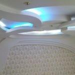 Фигурный потолок из гипсокартоной конструкции