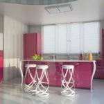 Наливной пол в дизайне кухни