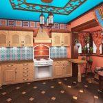 Розовый цвет в интерьере арабской кухни
