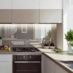 Живые растения в интерьере кухни