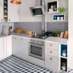 Дизайн современной кухни с 3D -полом