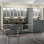 Дизайн кухни в оттенках серого цвета