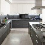 Наливной пол в кухне частного дома