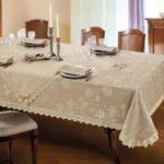 Праздничная сервировка кухонного стола