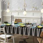 Лампочки без плафонов над кухонным столом