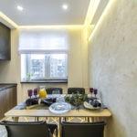 Дизайн кухни с декоративной штукатуркой