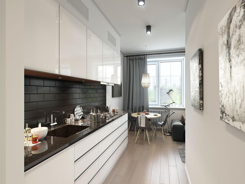 длинная кухня гостиная фото усердно изображали