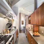 Дизайн кухни с потолком неправильной формы