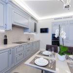 Освещение кухни в стиле современной классики