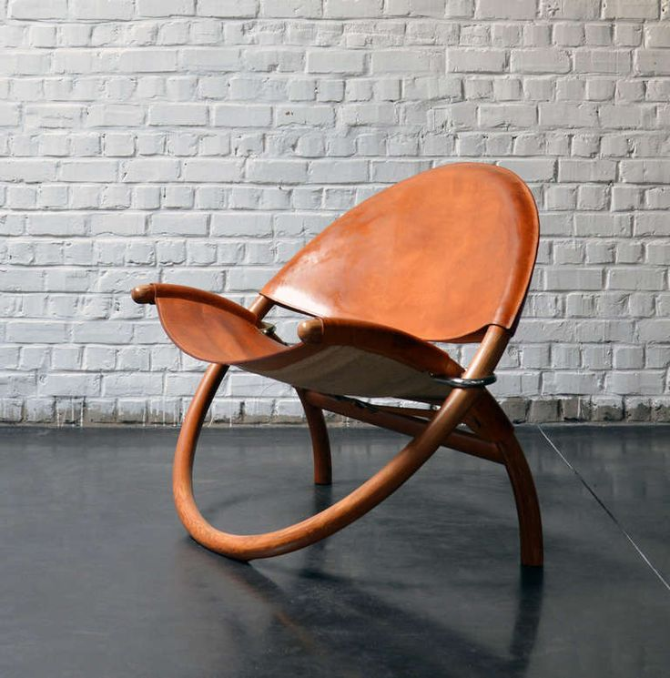 Складной стул из натуральной кожи