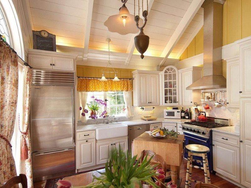 Кухня в стиле кантри в дачном домике