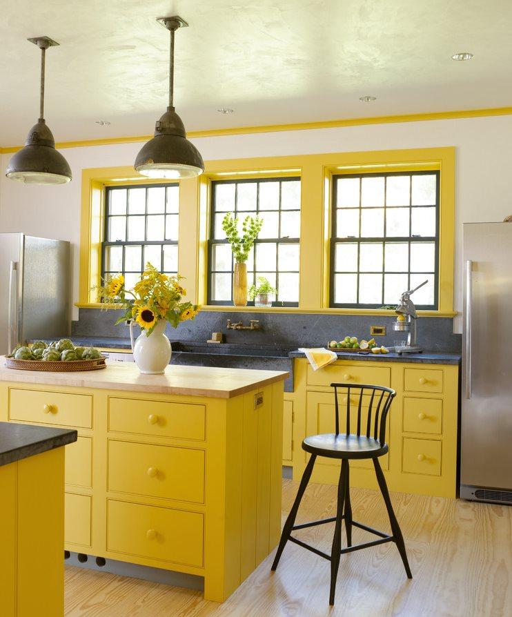 Желтый цвет в дизайне современной кухни