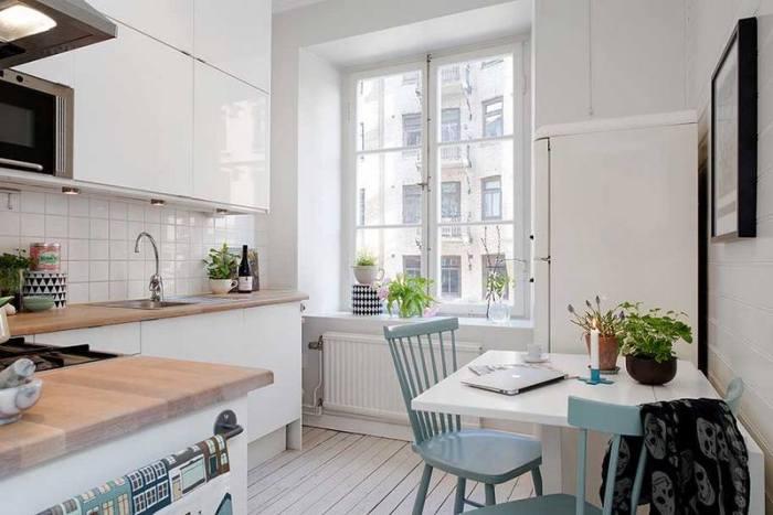 Кухня в стиле скандинавский.