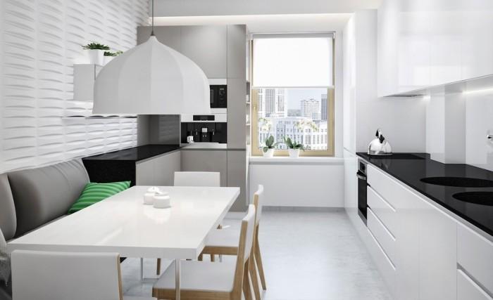 кухня минимализм планировка.
