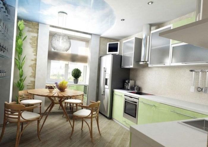 Кухня с балконом 9кв. м