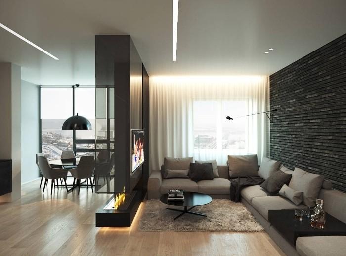 Мебель для зонирования пространства.