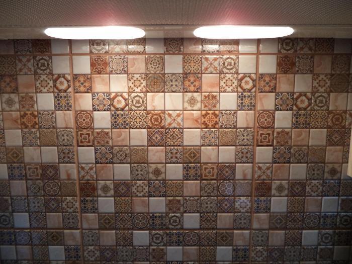 Мозаика керамогранитная.