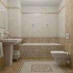 Керамический пол в ванной комнате
