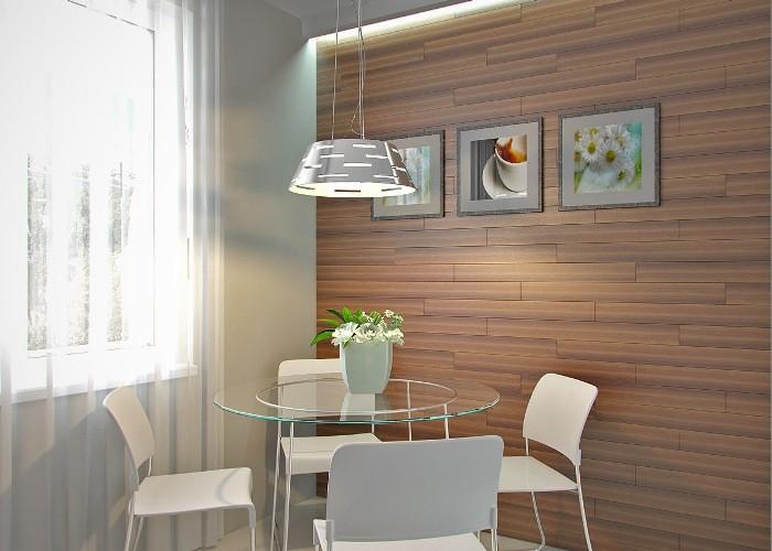 Картины на стенах кухни.