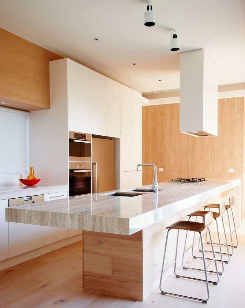 Софиты на потолке кухни из гипсокартона