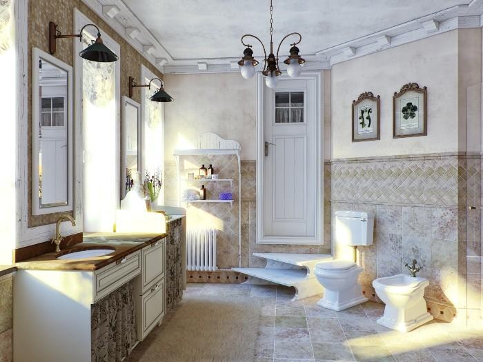 Скандинавская ванная комната.