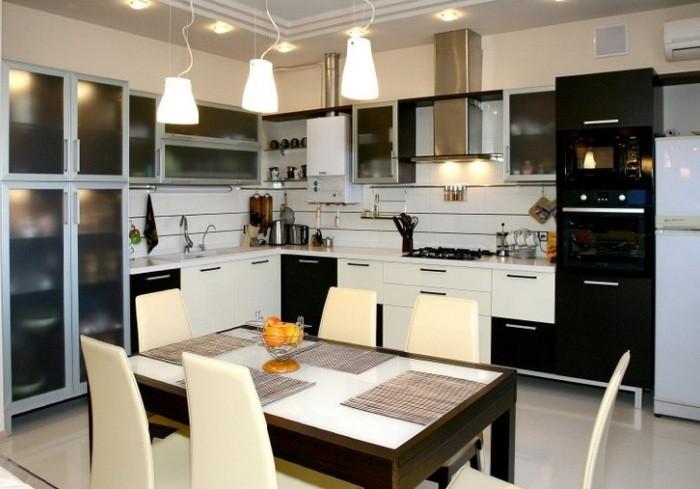 Дизайн кухни освещение.