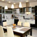Освещение кухни в современном стиле