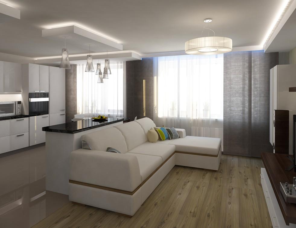 Параллельная планировка кухни-гостиной 20 кв м