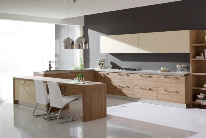 Дизайн большой кухни.