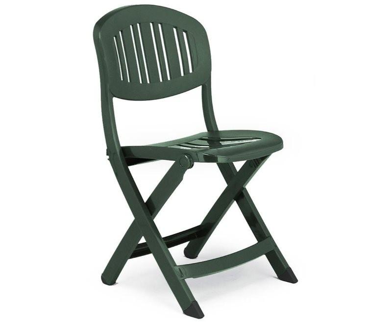 Складной стул из качественной пластмассы для кухни