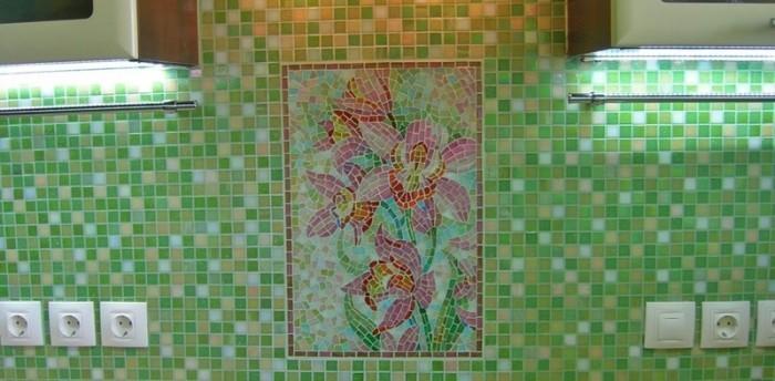 Размер мозаичной плитки.
