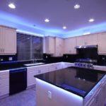 Подсветка гипсокартоного потолка светодиодной лентой за плинтусом