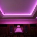Фото кухонного потолка из гипсокартона с подсветкой