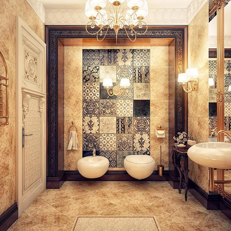Подвесная сантехника в ванной турецкого стиля