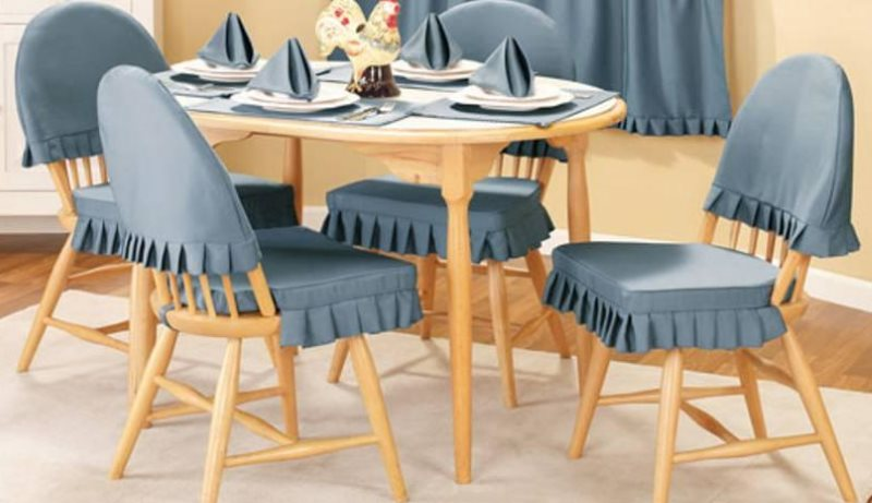Получехлы на кухонных стульях со спинками