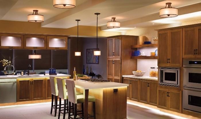 Выбор освещения для кухни.