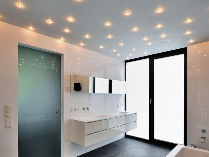 Освещение в ванной.