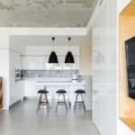 Бетонный поверхность кухонного потолка