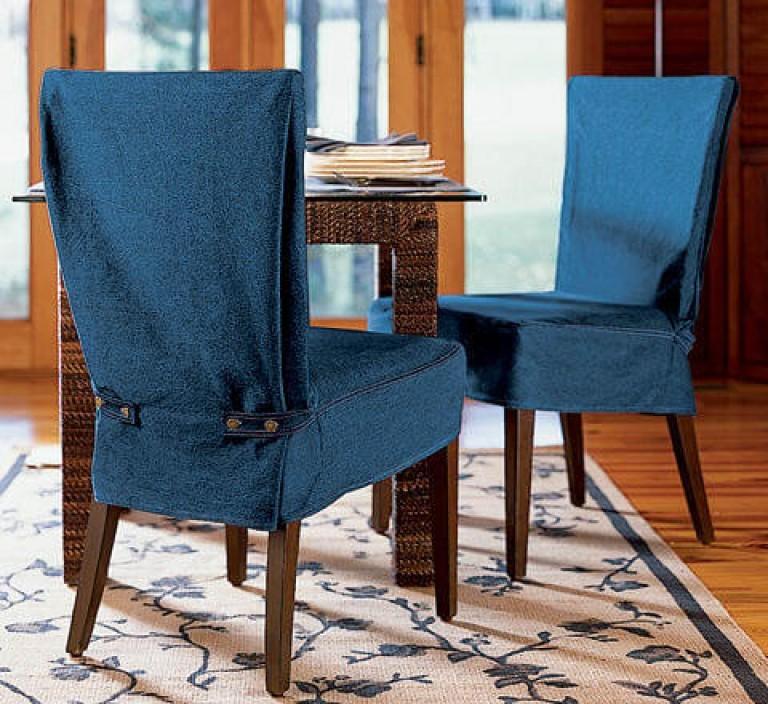 Повседневные чехлы ша спинках деревянных стульев