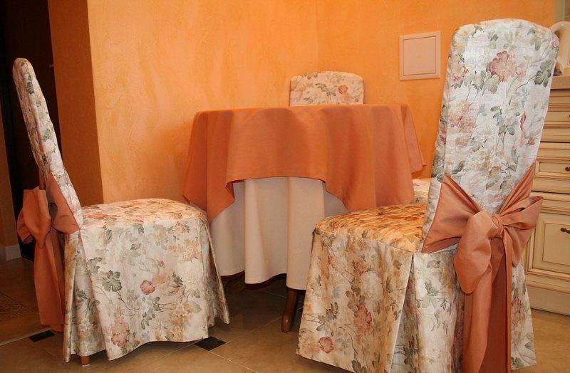 Чехлы класса люкс на кухонных стульях