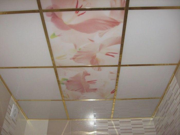 Потолок на кухню с рисунками.