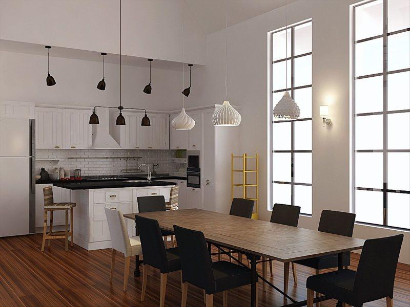 Черные и белые плафоны потолочных светильников
