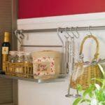 Полочка для баночек на кухонном рейлинге